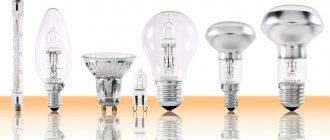 Галогенные лампы - характеристики и применение
